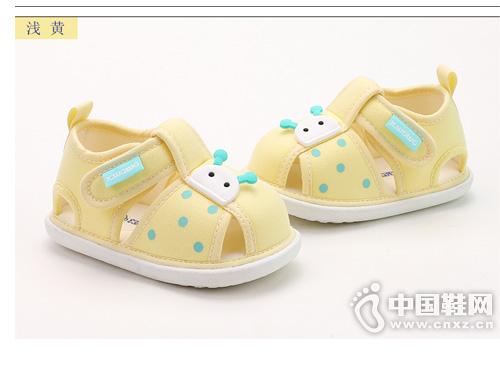 雪娃娃婴儿凉鞋0-6-12个月夏季宝宝学步鞋