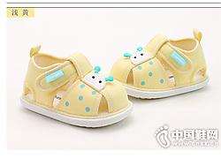 雪娃娃嬰兒涼鞋0-6-12個月夏季寶寶學步鞋