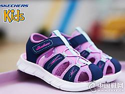 Skechers斯凯奇童鞋新款小童透气包头凉鞋