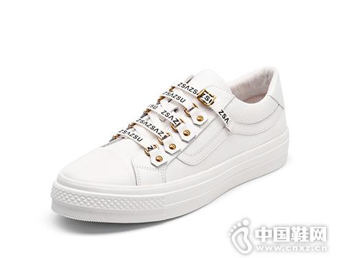 莎莎苏2019夏季新款时尚小白鞋