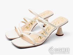 莎莎�K2019夏季新款潮鞋�r尚一字�Ц吒��鐾闲�