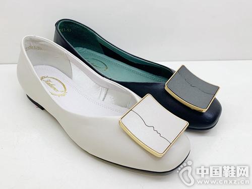 卡璐美正品2019夏款浅口女鞋时尚