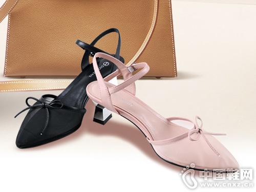 2019迪欧摩尼新款-猫跟后空凉鞋