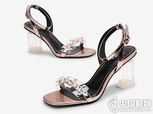欧罗巴凉鞋女2019新款-时尚水晶高跟-甜美百搭款