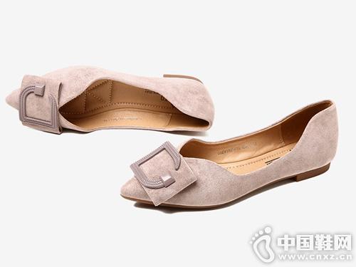 大东2019新款秋季性感低跟方跟单鞋