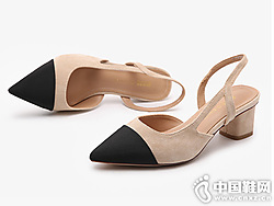 大东2019新款夏秋韩版高跟单鞋