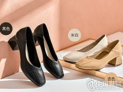 �A耐奶奶鞋女2019新款秋季方�^��s