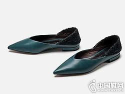 浅口单鞋女2019白领丽人秋季新款尖头平底一脚蹬