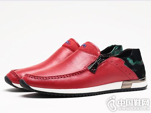 VOLO犀牛男鞋新款真皮懶人鞋潮流軟底潮鞋