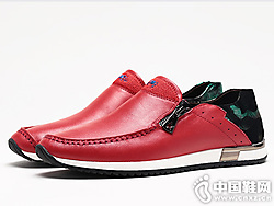 VOLO犀牛男鞋新款真皮懒人鞋潮流软底潮鞋