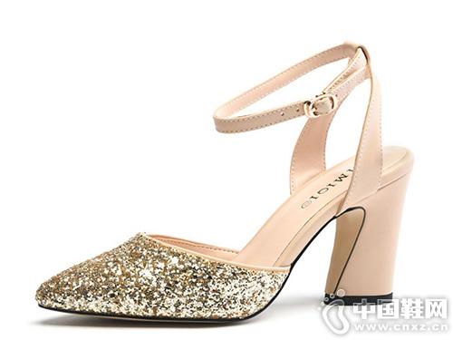 艾米奇2019夏季新款凉鞋水晶鞋百搭潮鞋