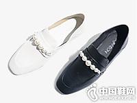 度嘉班妮2019春季新款�羊皮女鞋
