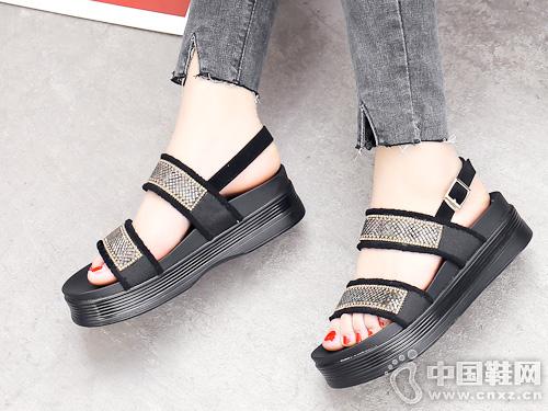JANFIRN展風時尚2019新款女涼鞋