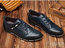 红蜻蜓-男单鞋新款时尚休闲金属系舒适男鞋
