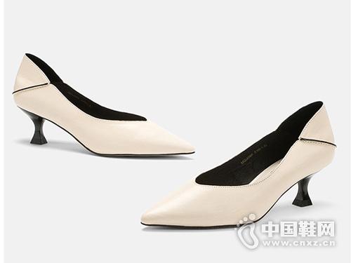 麦露迪女鞋2019秋季新款浅口尖头高跟鞋