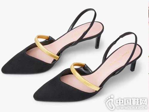 CHARLES&KEITH2019秋季新品一字带饰尖头高跟鞋