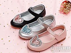 �t蜻蜓童鞋2019秋季新款女童皮鞋
