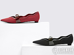 CHARLES&KEITH2019秋季新品蝴蝶结饰尖头玛丽珍鞋