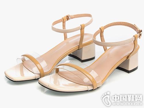 皇妹2019新款糖果色甜美一字搭凉鞋