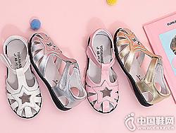 小林川子儿童女童凉鞋2019新款