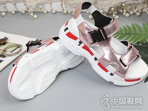 G-vill贵之步2018夏季新款金属运动凉鞋