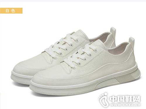 卡丹路男鞋2019秋季潮鞋真皮小白鞋