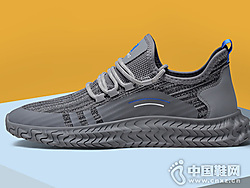 卡丹路男鞋2019秋季新款飞织运动鞋