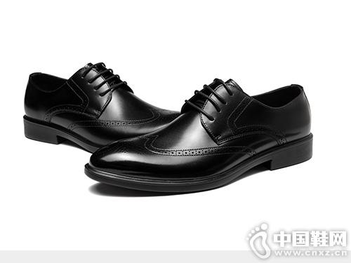 時尚布洛克雕花英倫透氣輕便軟奧康正裝皮鞋