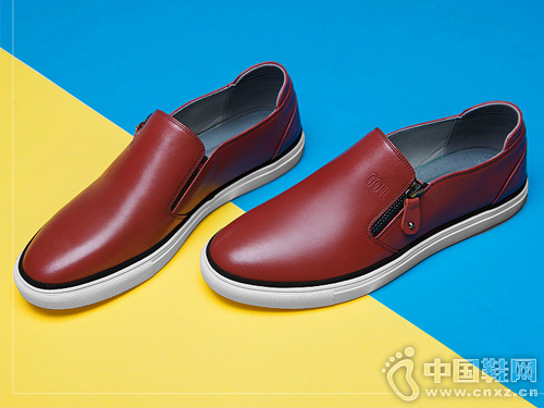 谷尔真皮乐福鞋男夏季新款小白鞋