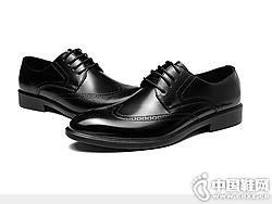 时尚布洛克雕花英伦透气轻便软奥康正装皮鞋