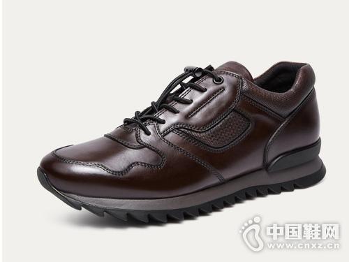 爱得堡运动休闲鞋男复古轻便跑步男鞋