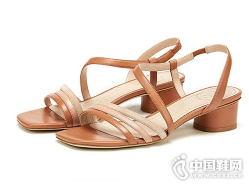 73Hours-涼鞋女2019新款一字帶女鞋