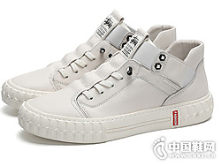 大洋洲袋鼠原宿港风一脚蹬厚底板鞋小白鞋