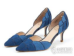 73hours-�N薇少女2019夏法式�跟尖�^高跟鞋