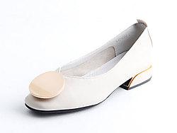 仙妮特浅口方头休闲舒适低跟女鞋