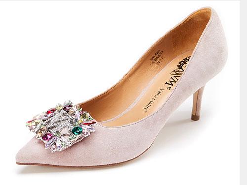 VME舞魅时尚尖头中跟浅口单鞋