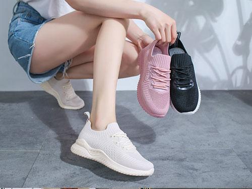 安丽尼卡2019新款潮鞋飞织运动休闲小白鞋