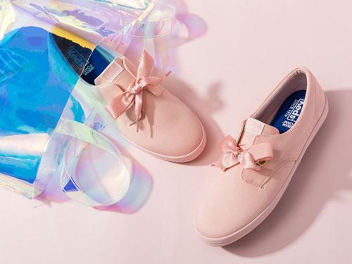 Keds复古玛丽珍女鞋绸缎帆布鞋