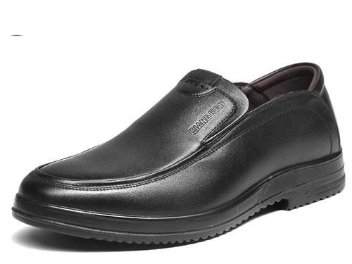 3515强人皮鞋男春季真皮透气商务休闲鞋