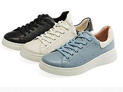 COZY-STEPS新款透气厚底增高小白鞋