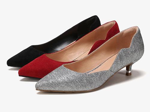 杜拉拉dulala淺口中跟單鞋女時尚細跟鞋