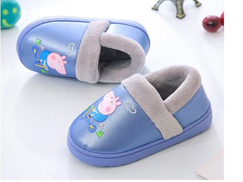 卡巴奇小猪佩奇儿童拖鞋冬季防滑保暖