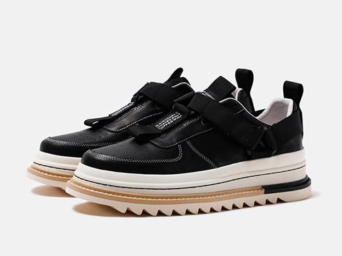维界男鞋低帮板鞋厚底增高韩版小白鞋