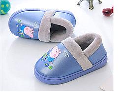 卡巴奇小豬佩奇兒童拖鞋冬季防滑保暖