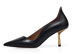 哥弟女鞋2019秋季新款优雅尖头高跟鞋