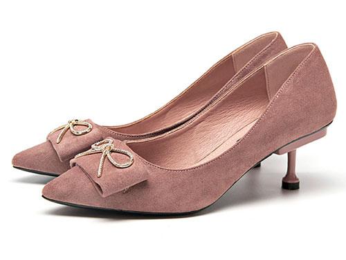 巨圣女鞋秋季新款时尚通勤浅口套脚高跟鞋
