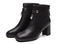 巨圣女靴2019新款短靴春秋�窝ビ���L�R丁靴