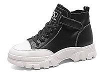 杰豪�R丁靴女冬季新款英���L真皮短靴