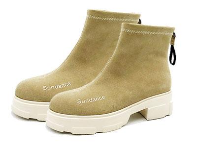 sundance太陽舞2019冬新潮簡約時尚字母短靴