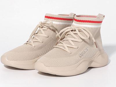 都市情人袜子鞋女2019秋季百搭休闲运动袜子靴